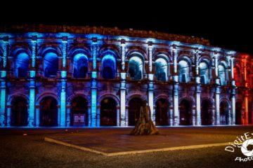 Illumination Bleu Blanc Rouge Arene Nimes 2015